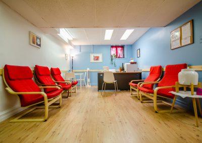 Salle d'attente de la Clinique d'orthopédagogie Myriam Gagnon