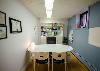 Autre vue du bureau de la clinique de Myriam Gagnon