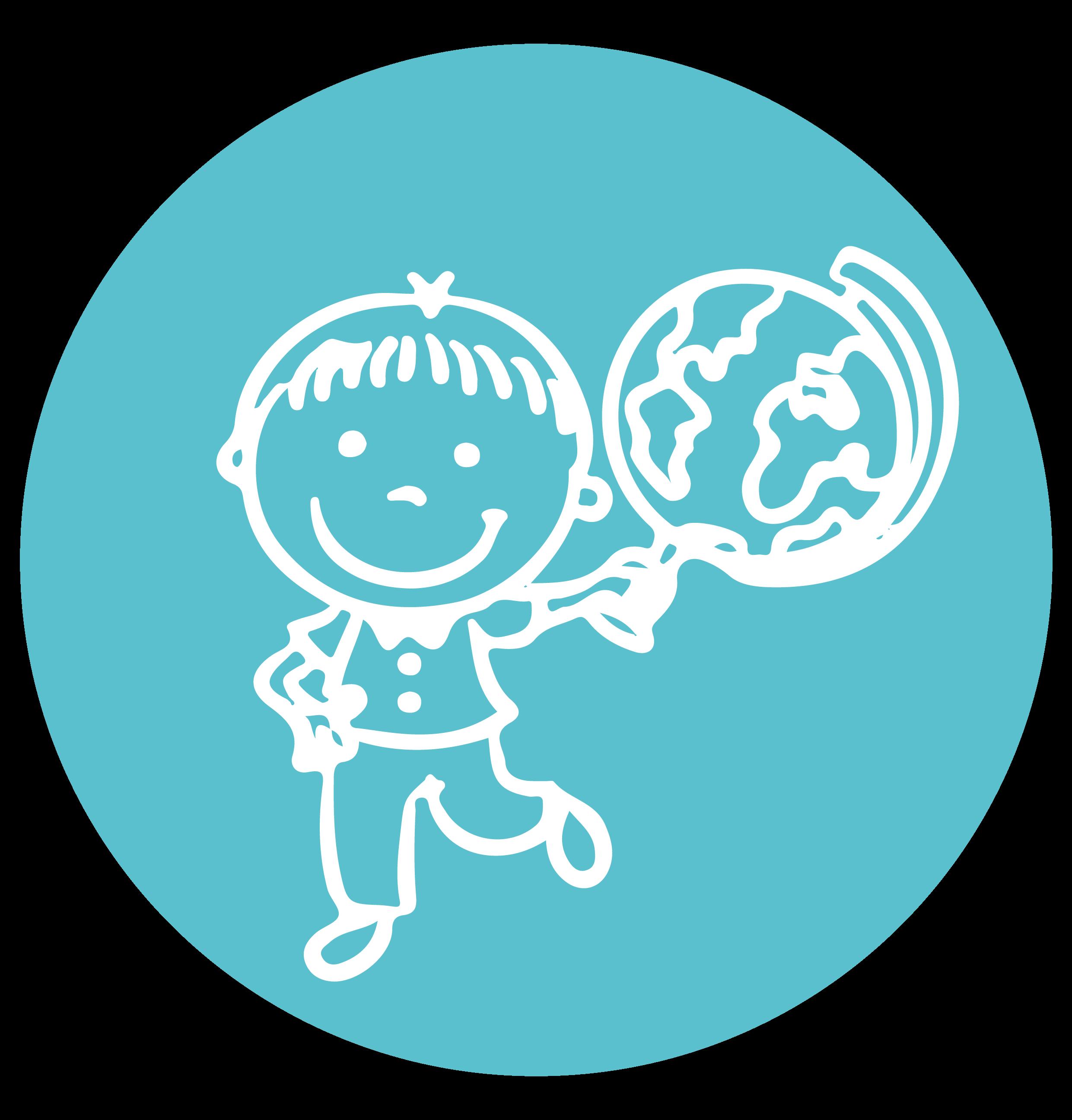 Image illustrant un enfant tenant un globe terrestre