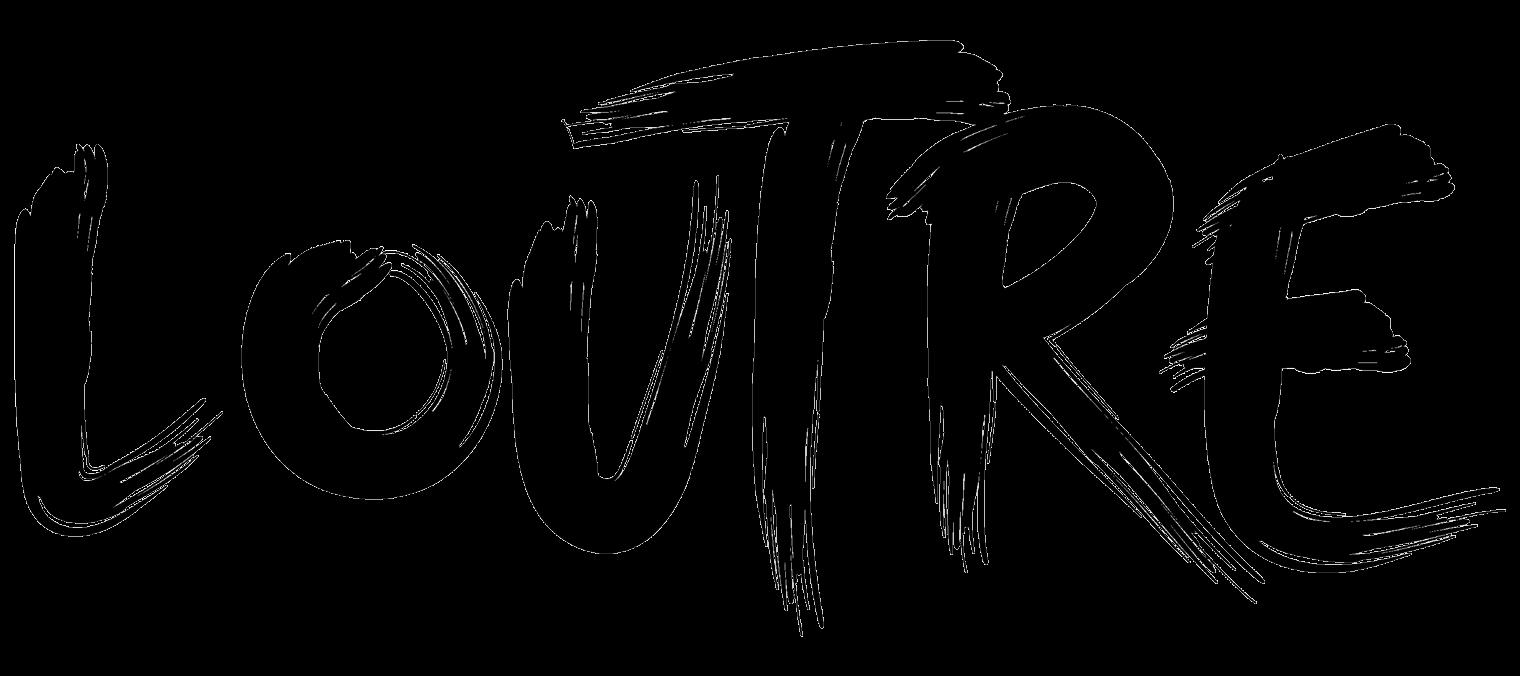 Logotype Loutre en noir sur fond blanc